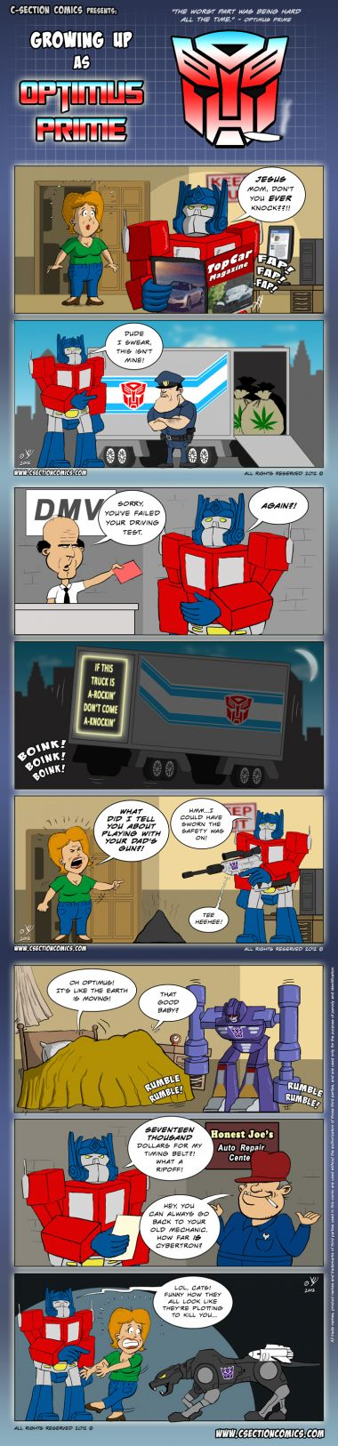 Growing Up Optimus Prime