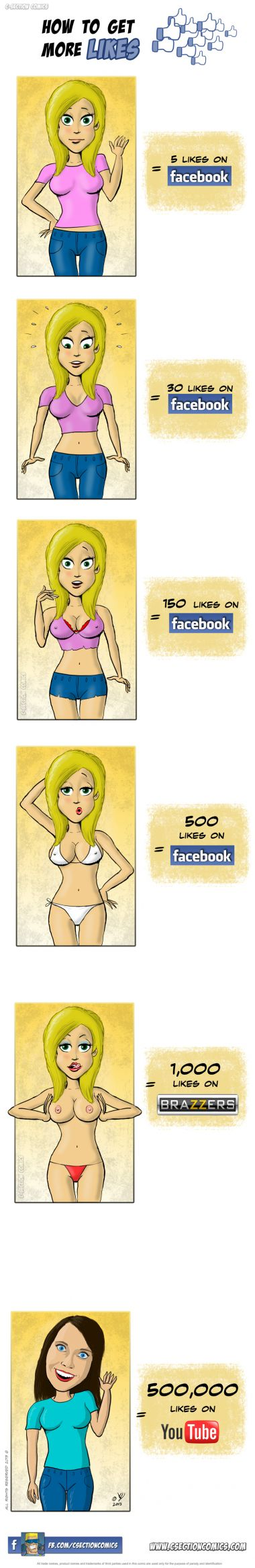 How to Get More Likes - by C-Section Comics