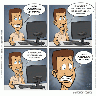 Facebook is down - C-Section Comics