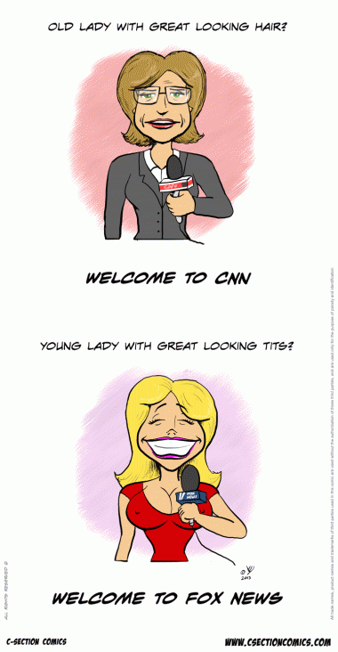 How Female News Anchors Are Chosen (C-Section Comics)