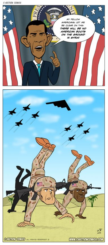 Boots on the Ground - Cartoon by C-Section Comics