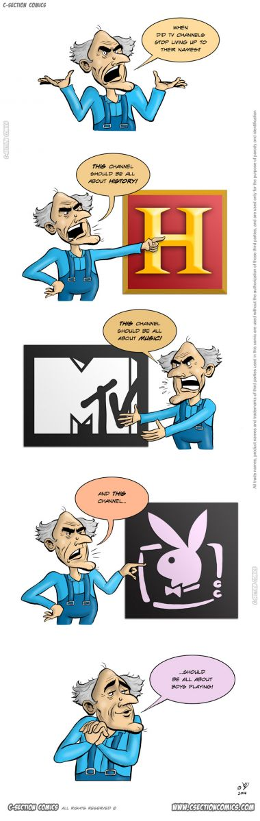 A Short Rant About TV Channel Names - Cartoon by C-Section Comics