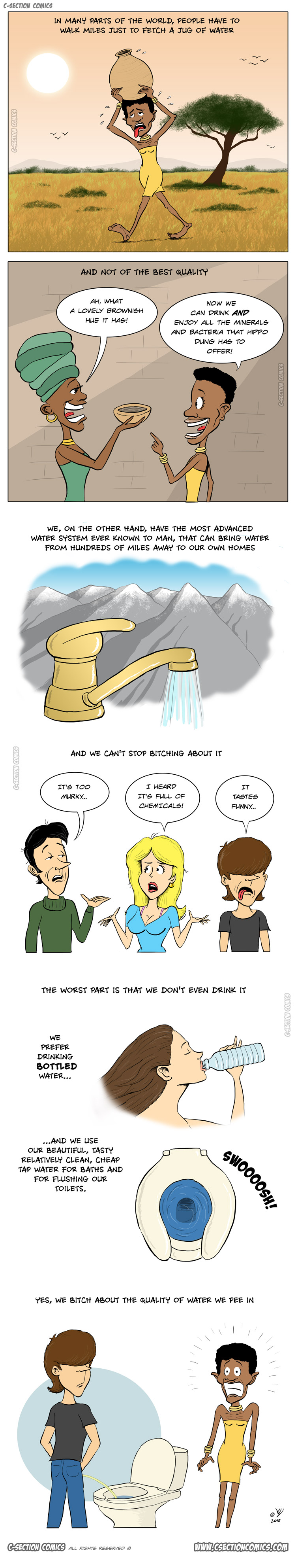 The Terrible Way We Treat Our Water - cartoon by C-Section Comics