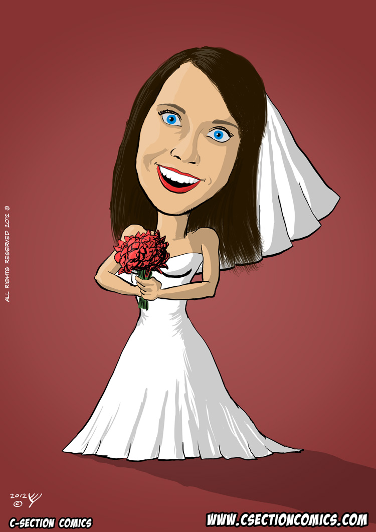 Overly Attached Bride - a Caricature of Overly Attached Girlfriend