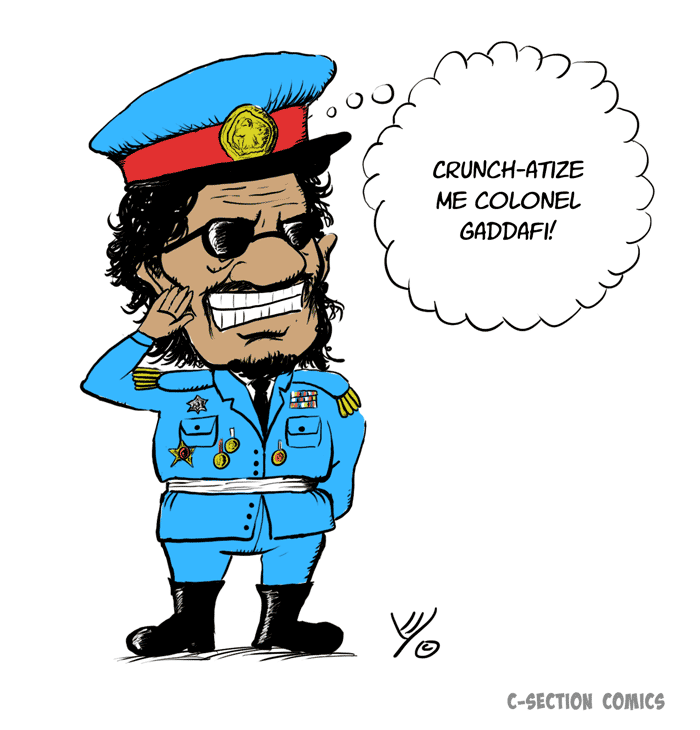 Captain Crunch or Colonel Gaddafi?