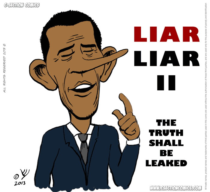 Liar Liar - Barack Obama - By C-Section Comics
