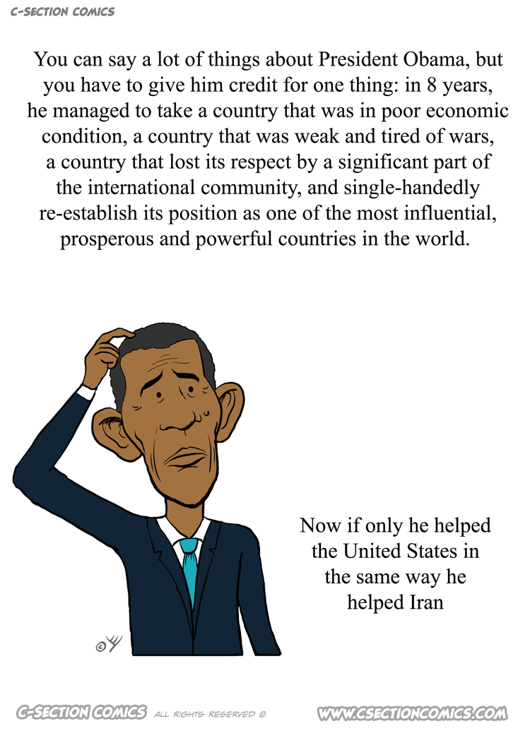 Obama's legacy - cartoon by C-Section Comics