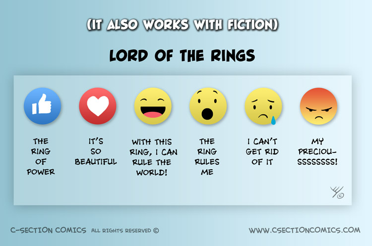 LOTR told using Facebook Reactions