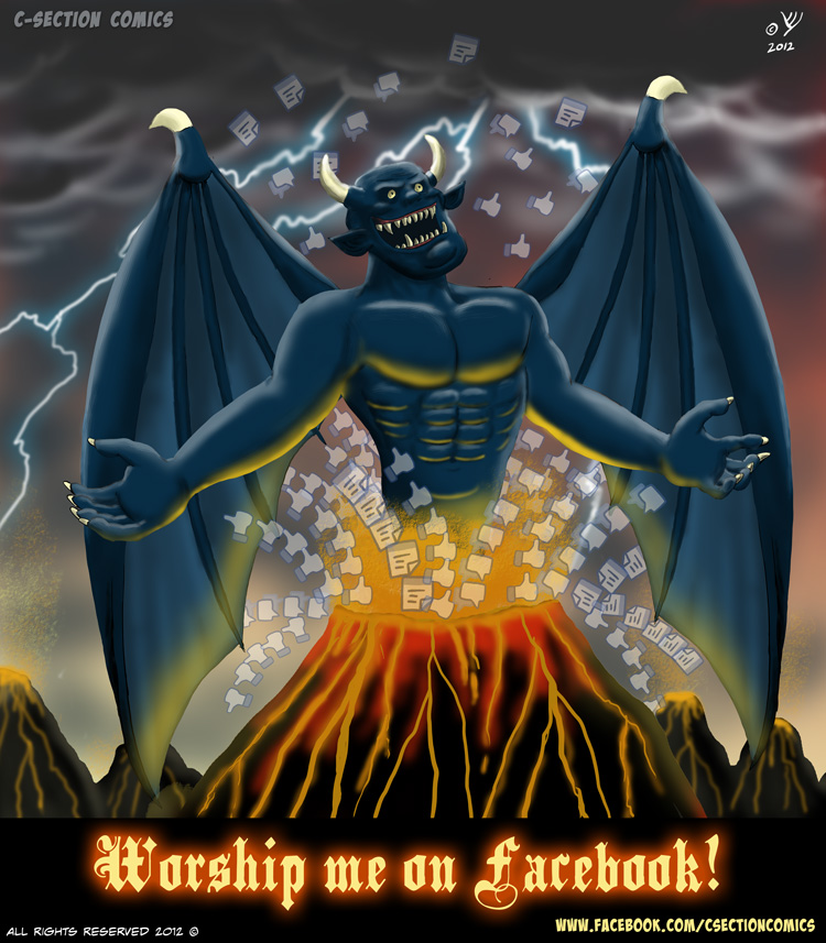 Worship Me on Facebook - The Facebook Demon