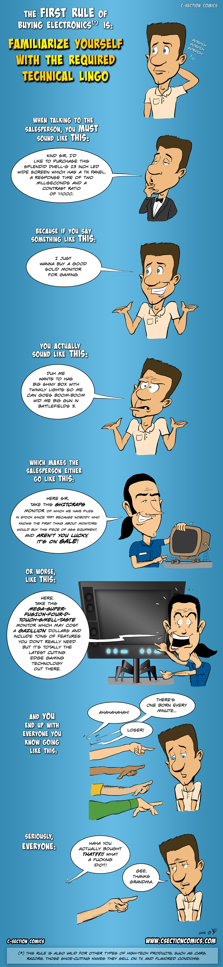 The First Rule of Buying Electronics