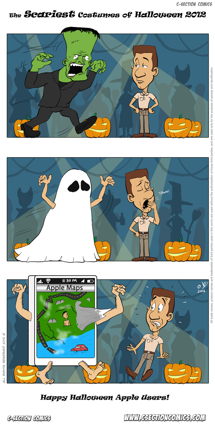 Scariest Costumes of Halloween 2012 - Happy Halloween Apple Users