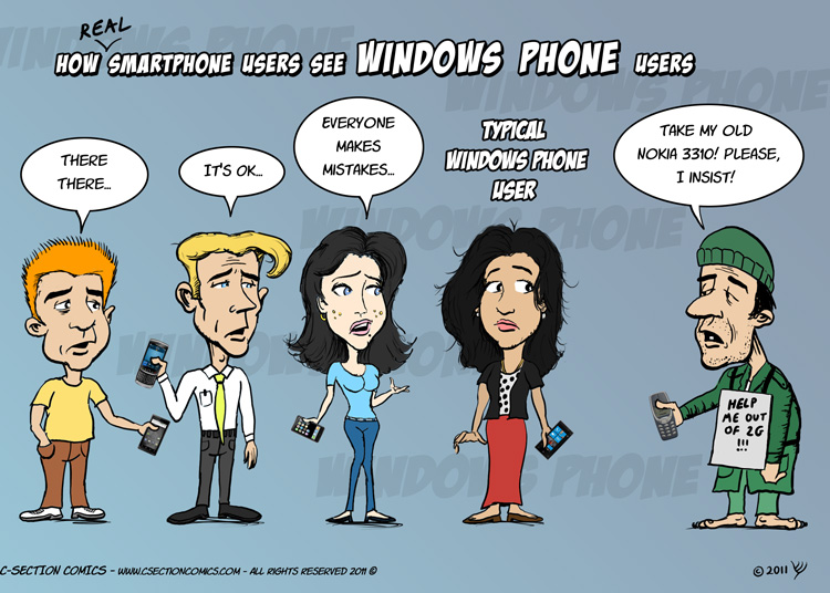 How Smartphone Users See Windows Phone Users