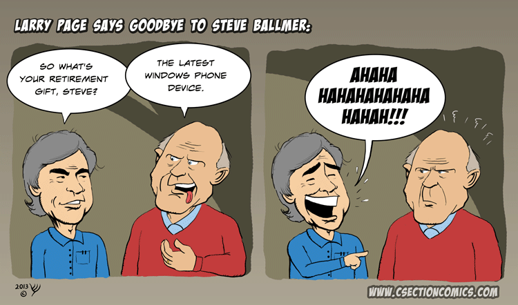 Larry Page Says Goodbye to Steve Ballmer