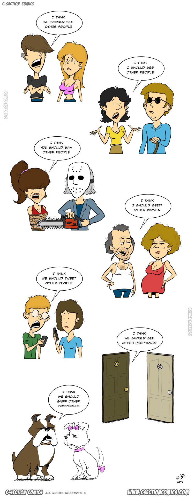 7 Breakup Phrases You Hope You'll Never Hear - Cartoon by C-Section Comics