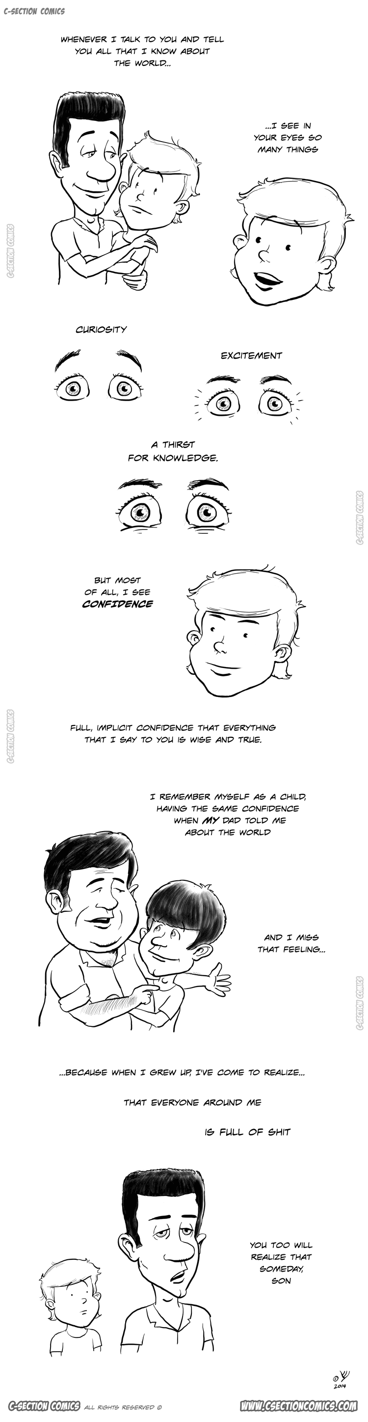 Son, This Is What You Need to Know about the World - Father's day cartoon by C-Section Comics