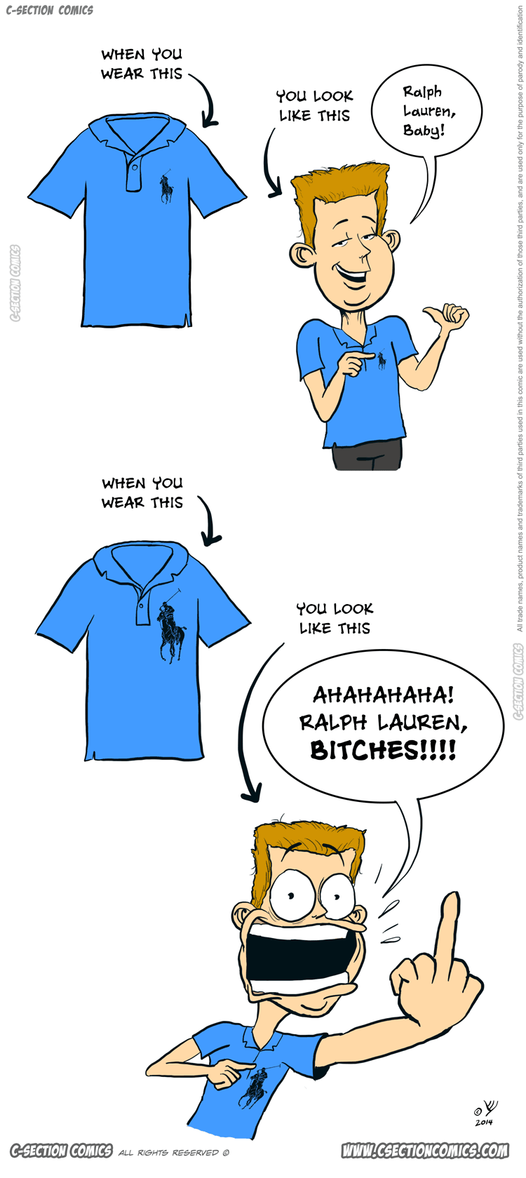 When You Wear Ralph Lauren - Fashion Cartoon by C-Section Comics