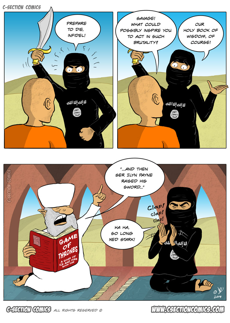 The Real Inspiration for ISIS - Political Cartoon by C-Section Comics