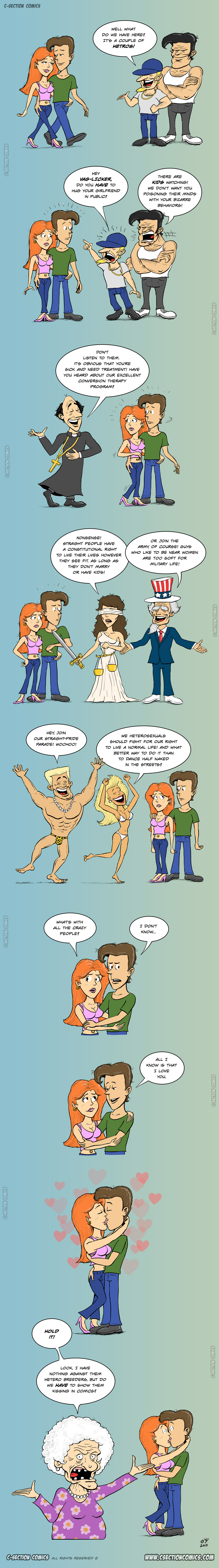Hetros - a gay rights cartoon by C-Section Comics