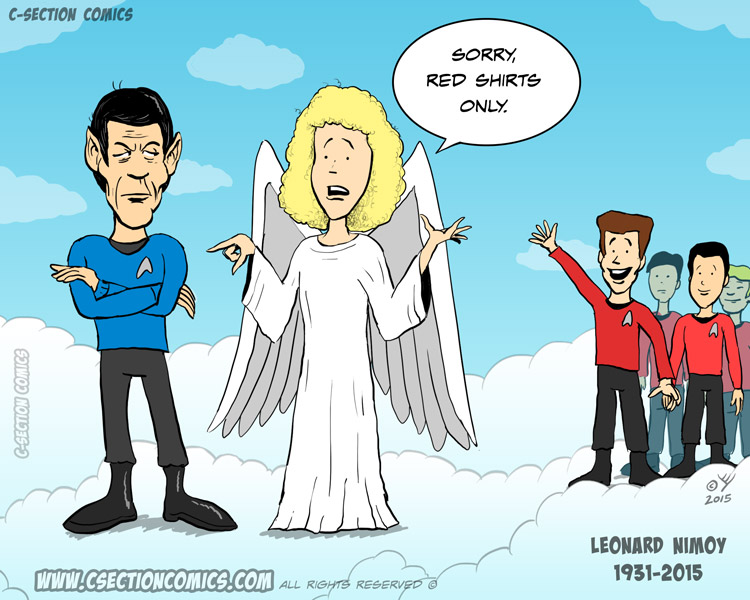 RIP Leonard Nimoy - Red Shirts Only