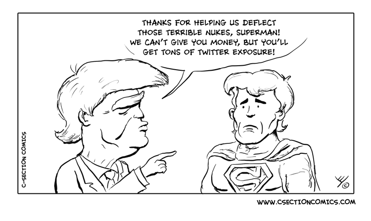 Superman Trump Twitter Exposure