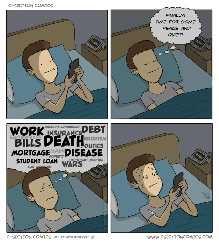 Phone in Bed - by C-Section Comics