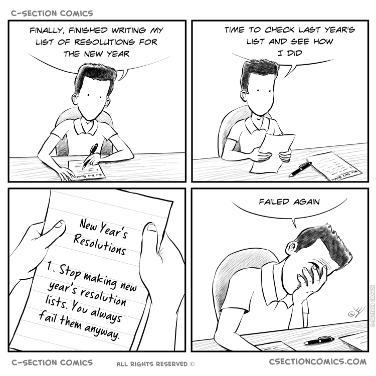 New Year's Resolutions - by C-Section Comics