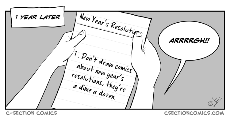 New Year's Resolutions - Bonus Panel