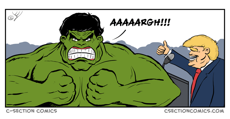 Hulk Trump - by C-Section Comics