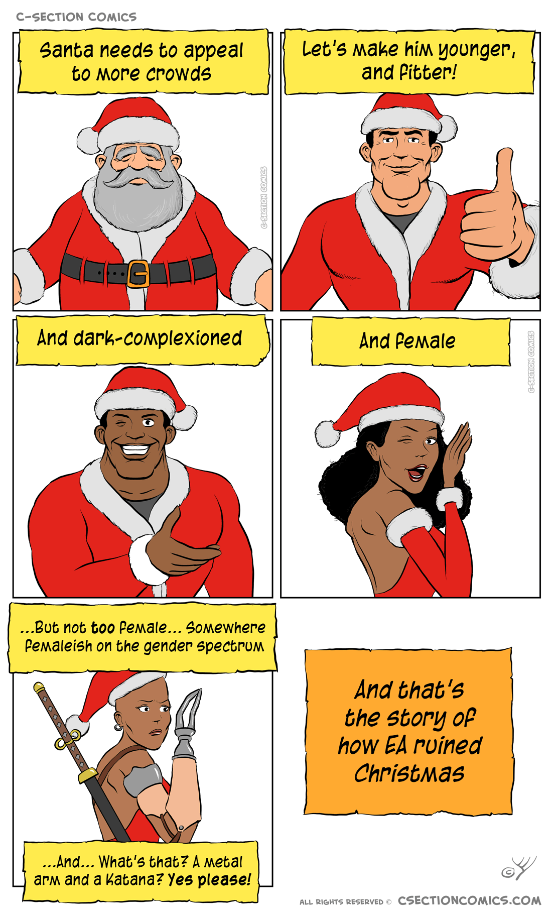 Accept it, or don't celebrate Christmas.