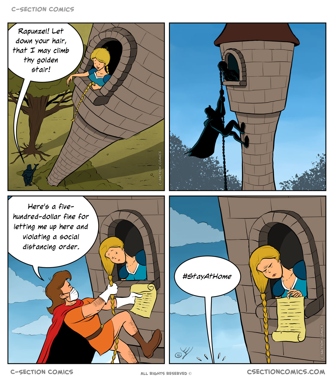 Like all of us in the quarantine, Rapunzel just wanted to go out and see a hairdresser.